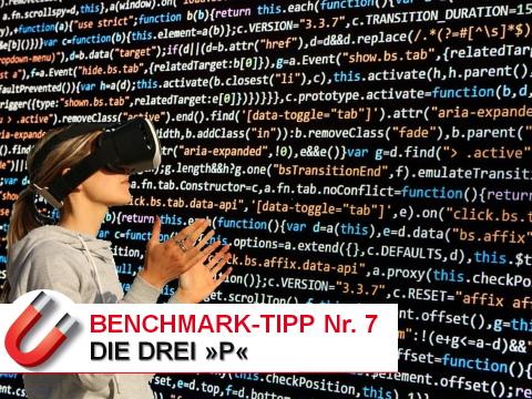 Benchmark-Tipp Nr-7 Die drei P